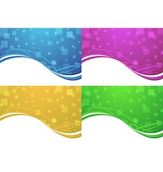 Abstract transparent backgrounds collection vector image
