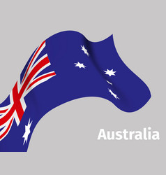 background with australia wavy flag vector image