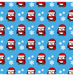 Christmas background penguin vector image vector image
