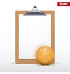 Coaching blank clipboard vector