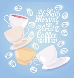 Coffee cup break breakfast drink beverage morning vector