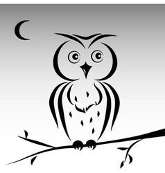 Cute ink owl vector image vector image