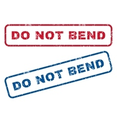 Do Not Bend Rubber Stamps vector image