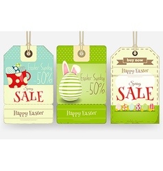 Easter tags vector
