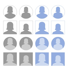 Female profile icons vector