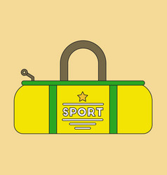 Flat icon on stylish background sports bag vector