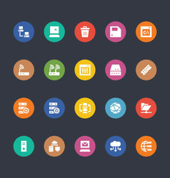 Glyphs colored icons 27 vector