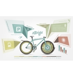 infographics benefits of bicycle use for humans vector image