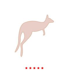 kangaroo it is icon vector image