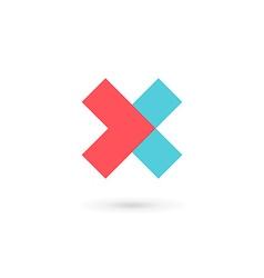 Letter x cross logo icon design template elements vector