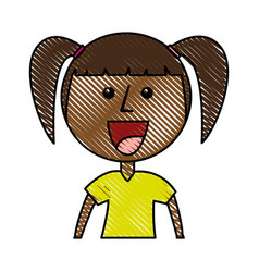 little african girl character vector image