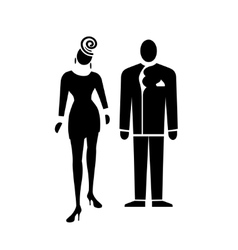 People icon Standing woman and man Person human vector image