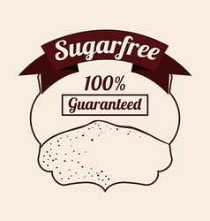 Sugar free product vector