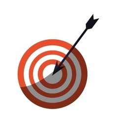 Target and arrow icon vector
