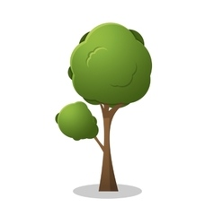 Tree for game design vector