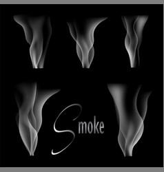 white smoke on black vector image vector image