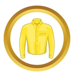 Yellow man shirt icon vector image