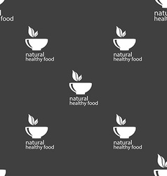 Healthy food concept sign seamless pattern on a vector
