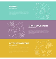 Body building template vector