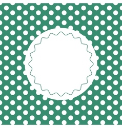 Green vintage background with dots vector
