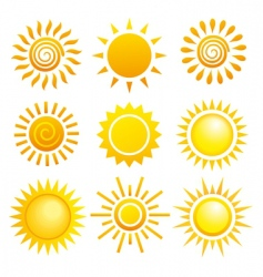 suns set vector image