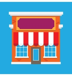 Shop building vector