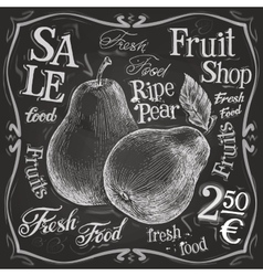 Ripe pear logo design template fresh fruit vector