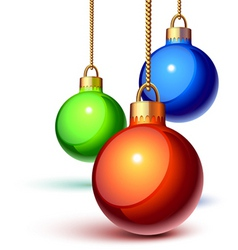 Christmas ornaments vector image