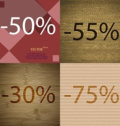 5 30 75 icon set of percent discount on abstract vector