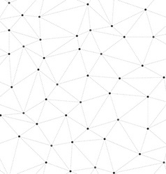 Connected dots vector