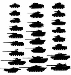 tanks vector image