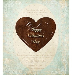 Retro valentines card vector