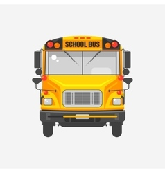 Flat icon yellow school bus vector