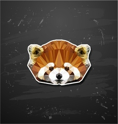 Abstract triangle polygonal lesser panda vector