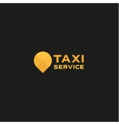 Taxi service logos sign abstract geometrical vector