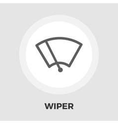 Windsield washer icon flat vector