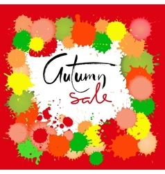 Autumn sale inscription for banners season sale vector