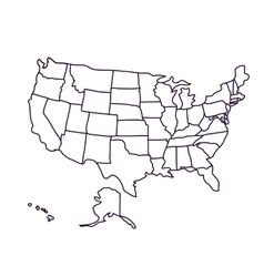 Usa map isolated icon design vector