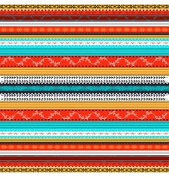 Ethnic boho seamless pattern colorful border vector