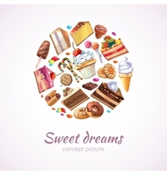 Abstract sweets background vector image vector image