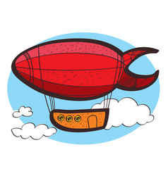 airship clipart color on a white background vector image vector image