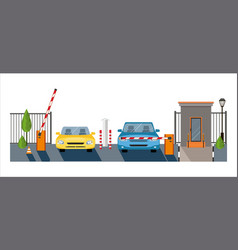 Automatic rising up barrier automatic system gate vector