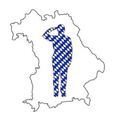 Bavarian salute vector