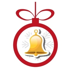 Bells christmas decoration icon vector