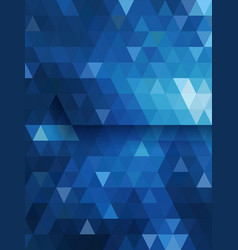 Blue triangle background diamond shape vector image vector image