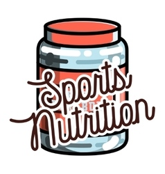 Color vintage sports nutrition emblem vector image vector image
