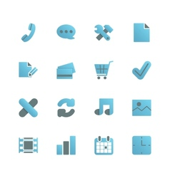 Ecommerce iconset for web design vector image vector image