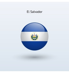 El salvador round flag vector