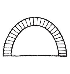 Elliptical arch arch vintage engraving vector
