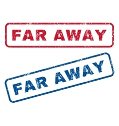 Far away rubber stamps vector